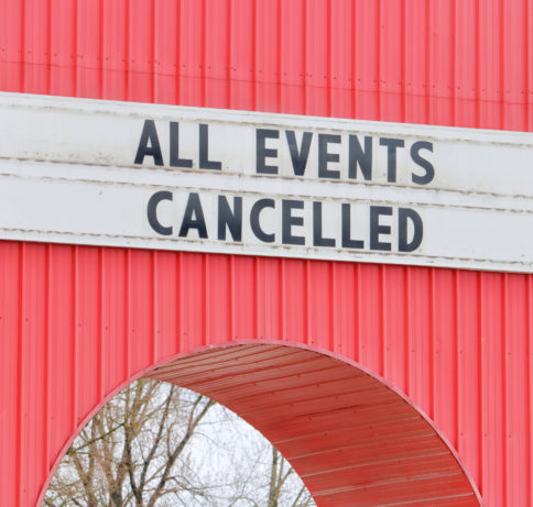 Events are being cancelled because of the covid 19 pandemic