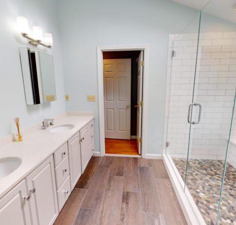 Photo of master bathroom from a virtual tour
