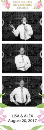 Photo booth strip from wedding