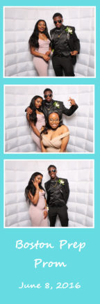 photo strip from prom photo booth