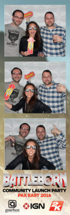 Photo booth strip from Battleborn party