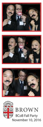 photo booth strip with three people